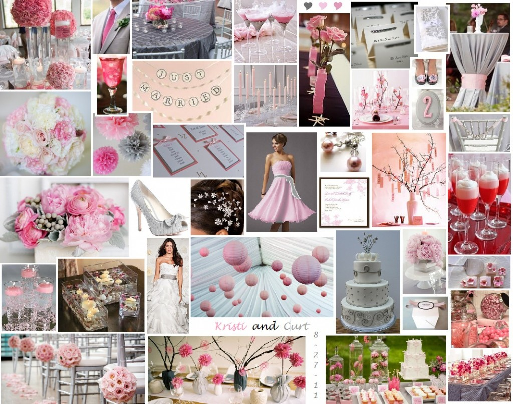 Weddingthemesrus: Gray and Pink Wedding Theme