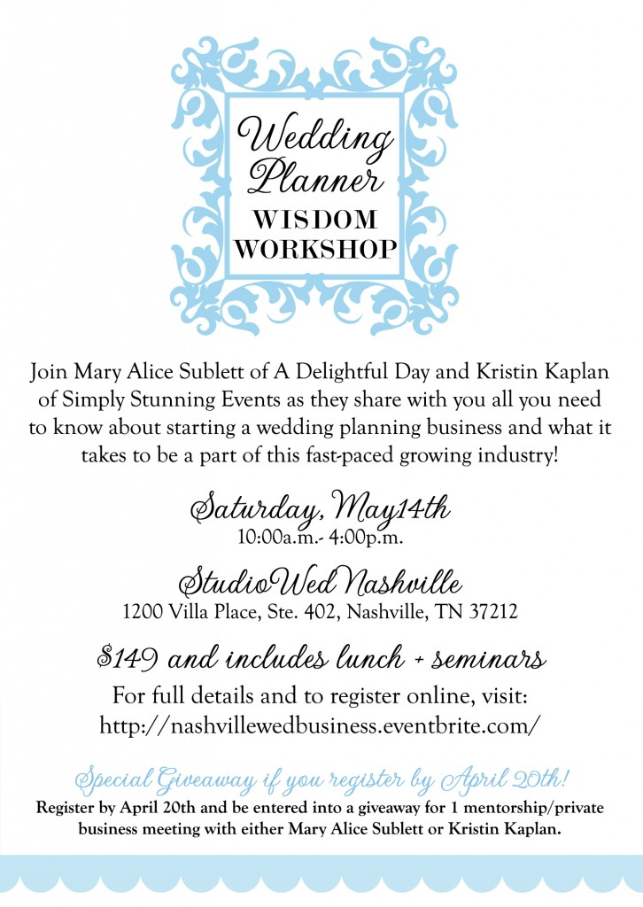 A Workshop for Aspiring Wedding Planners Stunning Events